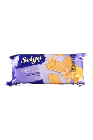 Vanilės skonio vafliai SELGA, 90 g