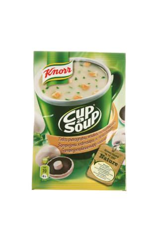 Tiršta pievagrybių sriuba su skrebučiais KNORR, 15 g