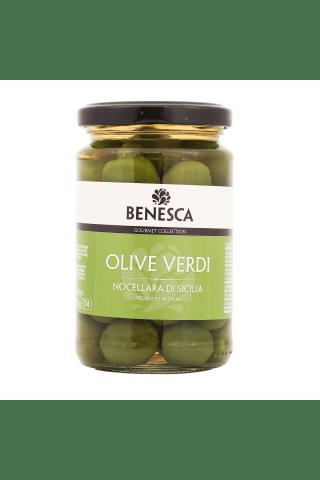 Zaļās olīvas Benesca Sicīlijas ar kauliņiem 295g