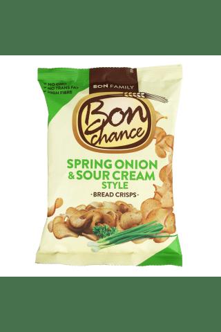 Grietinės skonio duonos traškučiai su svogūnų laiškais BON CHANCE, 120 g