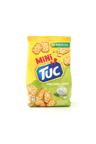 Grietinės ir svogūnų skonio krekeriai TUC MINI, 100 g