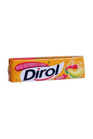 Košļājamā gumija Dirol ar melones arbūza garšu un saldinātājiem 13,6g