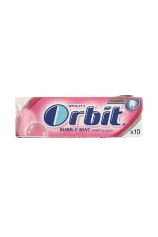 Becukrė vaisių ir mėtų skonio kramtomoji guma su saldikliais ORBIT, 10 vnt, 14 g