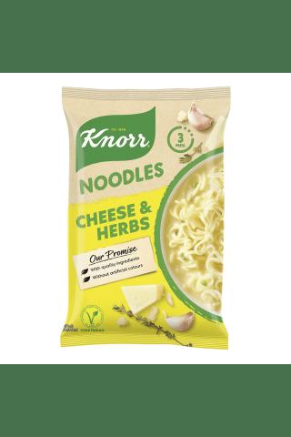 Nūdeles Knorr ar sieru un zaļumiem ātri pagatavojama