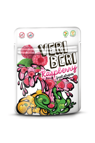 Avietinės vaisių juostelės VERI BERI, 50 g