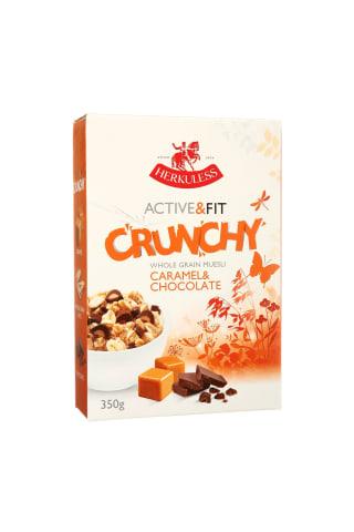 Musli Herkuless Active&Fit Crunchy Caramel&Chocolate ar karameli un šokolādi 350g