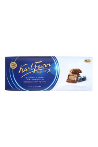Pieninis šokoladas su mėlynėmis FAZER, 190 g