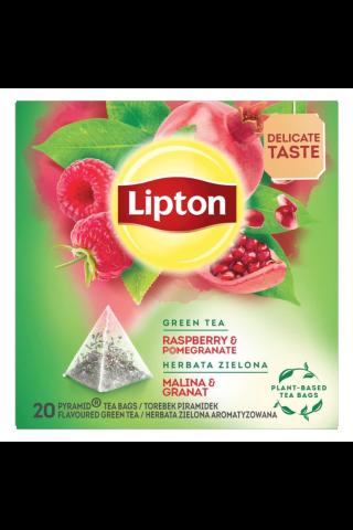 Aviečių ir granatų skonio žalioji arbata LIPTON, 20 vnt