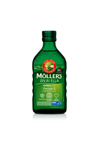 Žuvų taukai MOLLERS, 0,25 l