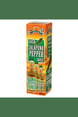 Žaliųjų pipirų padažas CANTINA Jalapeno, 60 ml