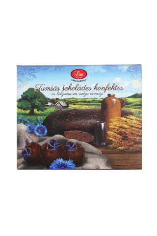 Šokolādes konfektes Lāči ar balzamu un rīvmaizi 192g