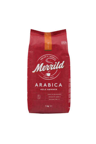 Kafijas pupiņas Merrild arabica 1000g