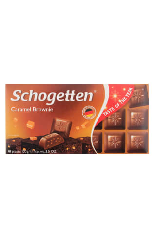 Šokolāde Schogetten Caramel Brownie 100g