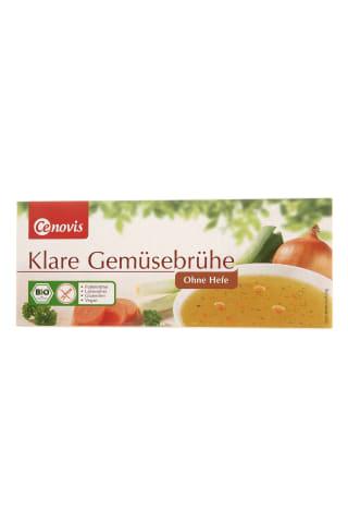 Ekologiškas skaidrus daržovių sultinys, be mielių, CENOVIS 12 kubelių, 132 g