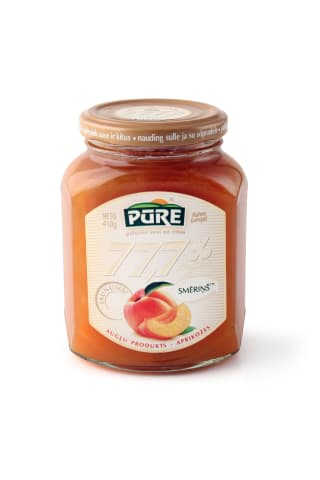 Augļu produkts Pūre Smēriņš aprikožu 77,7% ogu 410g