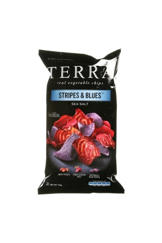 Daržovių traškučiai TERRA STRIPES&BLUES, 110 g