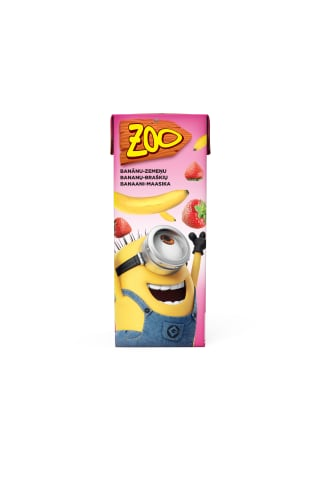 Dzēriens Zoo Minions ban.zemeņu 0.2l
