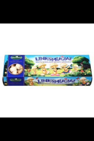 Baltojo šokolado skonio grybukai LINKSMUČIAI, 170 g
