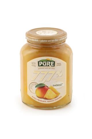 Augļu produkts Pūre Smēriņš mango ananasu 77,7% 410g