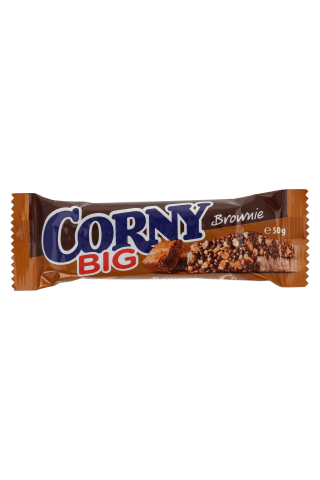 Batonėlis CORNY BIG BROWNIE, 50 g