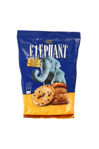 Traškūs krekeriai su juodųjų ir baltųjų sezamų sėklomis ELEPHANT, 80 g