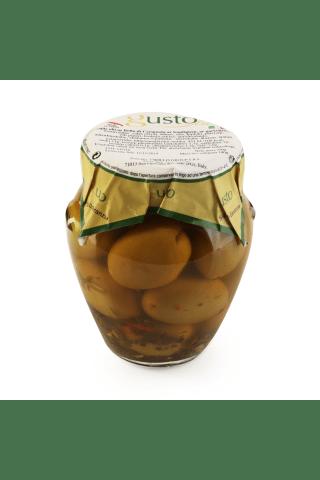 Zaļās olīvas ar kauliņiem Bella di Cerignola ar garšvielām 314 ml