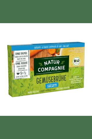 Ekologiškas daržovių sultinys su sumažintu druskos kiekiu NATUR COMPAGNIE, 80 g