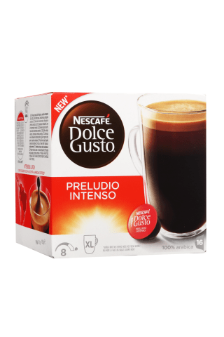 Kafijas kapsulas Nescafe DG preludio intenso 160g