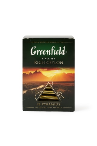 Melnā tēja Greenfield Rich ceylon 20x2g