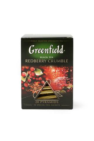 Melnā tēja Greenfield Redberry crumble 20x1,8g