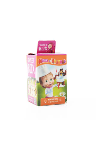 Želejkonfekte ar rotaļlietu Sweet Box Maša un lācis 10g
