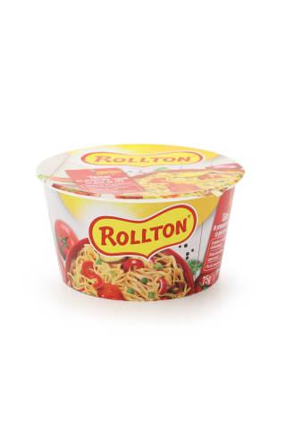 Nūdeles Rollton ar liellopu gaļas garšu ātri pagatavojamās traukā 75g
