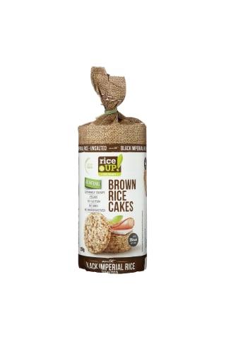 Rudųjų ryžių trapučiai be druskos RICE UP, 120 g