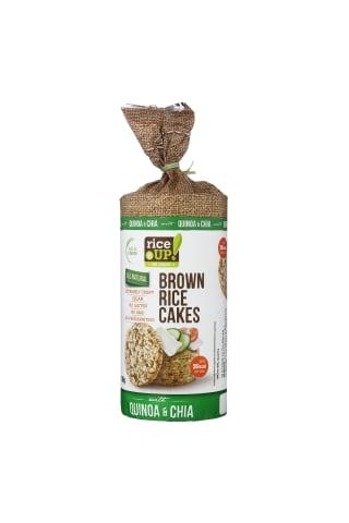 Rudųjų ryžių trapučiai su kvinoja ir CHIA sėklomis RICE UP, 120 g