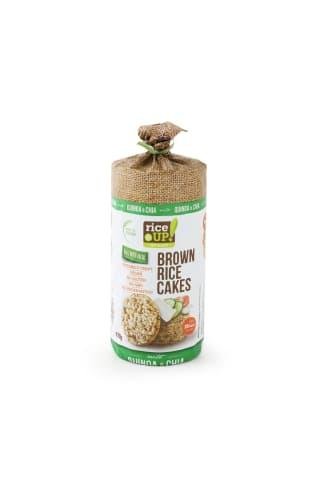 Brūno rīsu galetes Rice up ar čia un kvinoju sēklām 120g