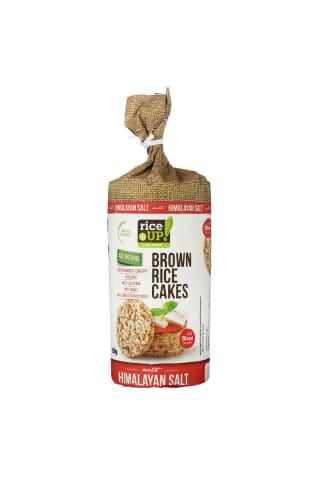 Rudųjų ryžių trapučiai su Himalajų druska RICE UP, 120 g