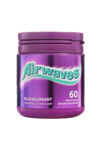 Kramtomoji guma AIRWAVES su juodaisiais serbentais, 84g