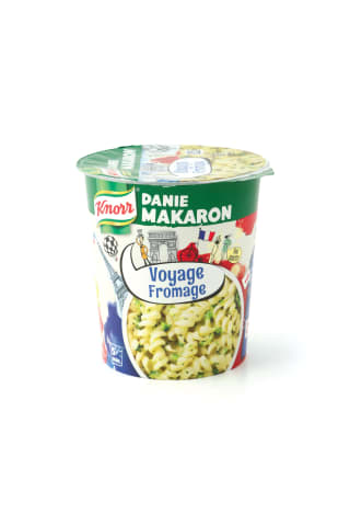 Makaroni Knorr Voyage Fromage ar siera mērci un brokoļiem franču gaumē 69g