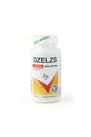 Uztura bagātinātājs Pharma Market Dzelzs 15mg ar multivitamīniem un minerāliem N30