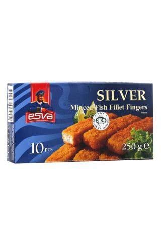 Zivju fileju pirkstiņi Esva silver saldēti 250g