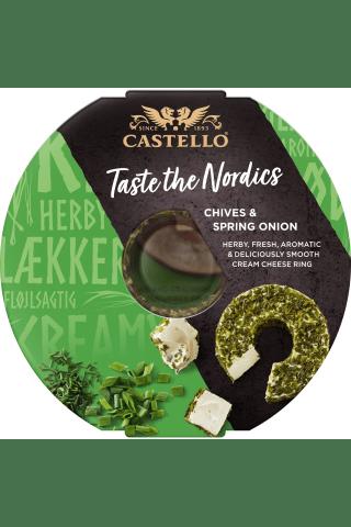 Kreminis sūris su laiškiniais česnakais CASTELLO, 125g