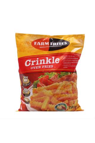 Kartupeļi frī Farmfrites rievoti saldēti 750g