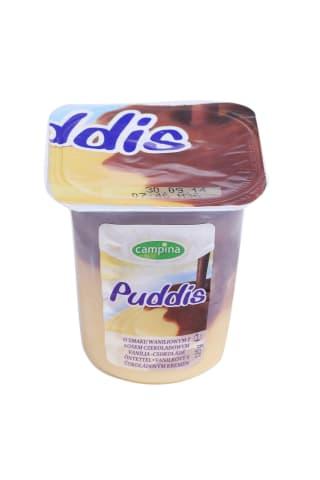 Pudiņš Puddis vaniļas ar šokolādes mērci 125g