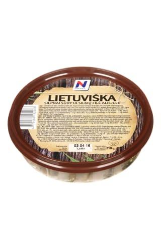 Silpnai sūdyta silkių filė aliejuje NORVELITA Lietuviška, 210 g