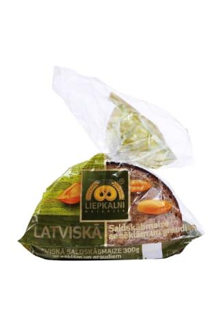 Saldskābmaize Latviskā ar sēklām un graudiem 300g