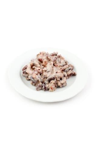 Pupiņu salāti ar kūpinātu gaļu kg