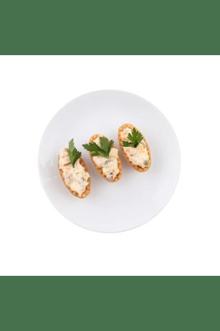 Groziņš ar Olivjē salātiem