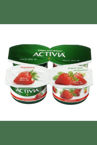 Jogurtas su braškėmis ir bifido bakterijomis ACTIVIA ACTIREGULARIS, 2,6% rieb., 480 g