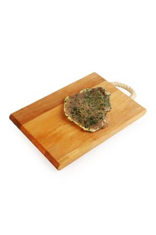 Cūkgaļas steiks mētru marinādē