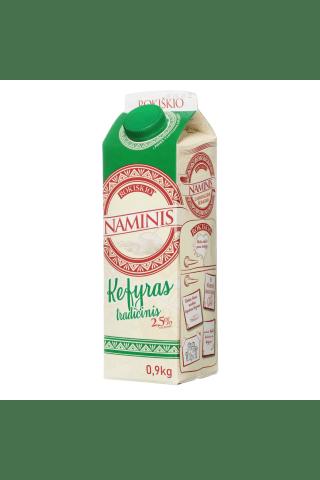 Kefyras ROKIŠKIO NAMINIS, tetra, 2,5 % rieb., 0,9 kg